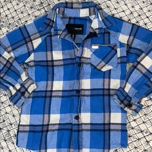 Hurley Plaid Button Down size 4T
